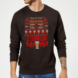 Pull de Noël Homme You've Got Red On You Shaun Of The Dead - Noir