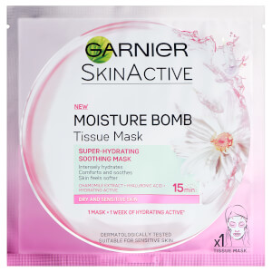 Garnier Moisture Bomb Camomile Hydrating Face Sheet Mask for Dry and Sensitive Skin 32g