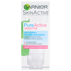 Garnier Pure Active Anti Blemish Face Moisturiser Sensitive Skin 50ml