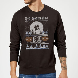 E.T. the Extra-Terrestrial Christmas Sweatshirt - Black