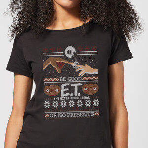 E.T. the Extra-Terrestrial Be Good Or No Presents Women's T-Shirt - Black