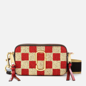 Marc Jacobs Women's Snapshot Checkerboard Bag - Gold Multi