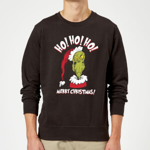 The Grinch Ho Ho Ho Christmas Sweater - Black