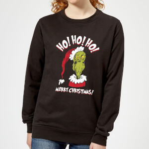 The Grinch Ho Ho Ho Women's Christmas Sweatshirt - Black