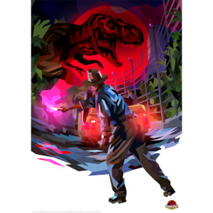 Jurassic Park Illustrative Limited Edition Art Print