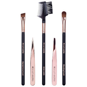 brushworks Luxury Brow Set -kulmakarvasetti, Rose Gold