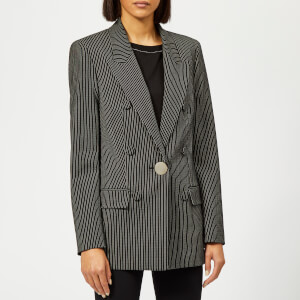 Alexander Wang Women's Oversized Blazer with Leather Sleeves - Black