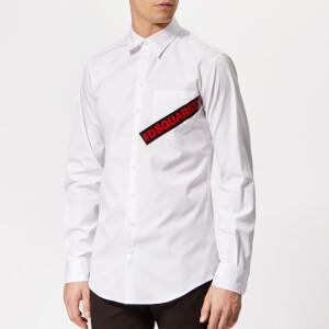 Dsquared2 Men's Tape Logo Carpenter Shirt - White