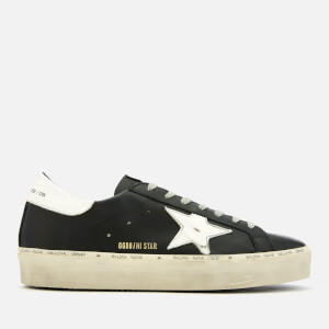Golden Goose Deluxe Brand Men's Hi Star Leather Trainers - Black/White Star