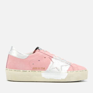 Golden Goose Deluxe Brand Women's Hi Star Leather Trainers - Powder/Silver Leaf