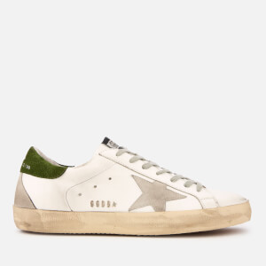 Golden Goose Deluxe Brand Men's Superstar Leather Trainers - White/Dill