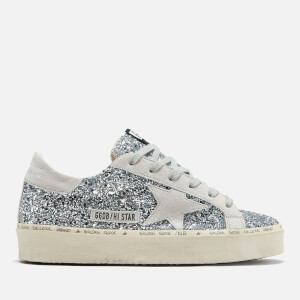 Golden Goose Deluxe Brand Women's Hi Star Leather Trainers - Silver Glitter/Ice Star