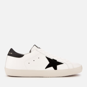 Golden Goose Deluxe Brand Men's Superstar Leather Trainers - White/Black/Gold Lettering