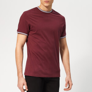 Jack Wills Men's Rousting Retro Tipped T-Shirt - Plum
