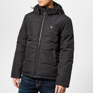 Jack Wills Men's Breckwood Puffer Jacket - Black