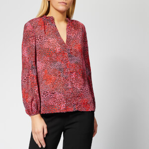 Whistles Women's Elexis Abstract Animal Dobby Blouse - Pink/Multi