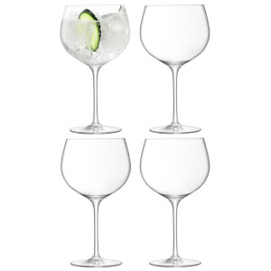 LSA Balloon Gin Balloon Glasses - Clear (Set of 4)