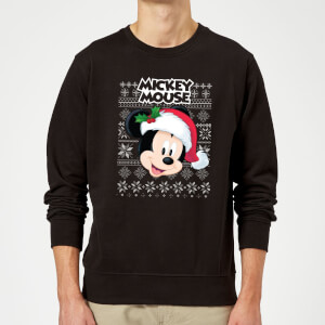 Disney Classic Mickey Mouse Christmas Sweater - Black