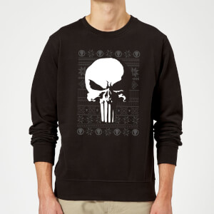 Marvel Punisher Christmas Sweatshirt - Black