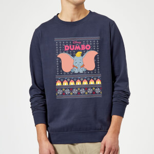 Disney Classic Dumbo Christmas Sweater - Navy