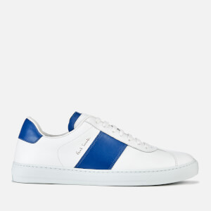 Paul Smith Men's Levon Leather Cupsole Trainers - White Blue Tab