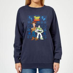 Disney Toy Story Damen Weihnachtspullover - Navy Blau