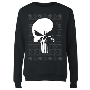 Marvel Punisher Dames kersttrui - Zwart