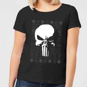 Marvel Punisher Damen Christmas T-Shirt - Schwarz