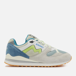 Karhu Men's Synchron Classic Runner Style Trainers - Moonlight Blue/Sharp Green