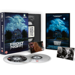 Fright Night Zavvi EXCLUSIEF VHS Limited Edition Dual Format (Inclusief Blu-ray & DVD)