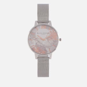 Olivia Burton Women's Abstract Florals Watch - Silver