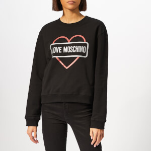 Love Moschino Women's Street Logo Sweater - Black