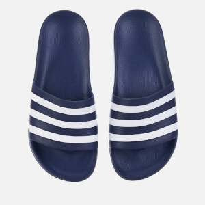 adidas Men's Adilette Aqua Slide Sandals - Dark Blue