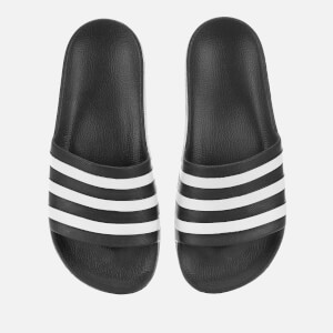 adidas Men's Adilette Aqua Slide Sandals - Black