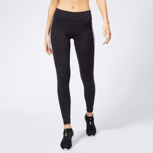 adidas Women's Believe This Solid 3 Stripes Tights - Black