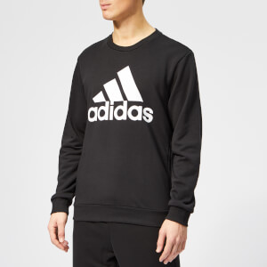adidas Men's Must Haves BOS Crew Neck Sweatshirt - Black
