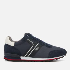 BOSS Men's Parkour Runner Style Trainers - Dark Blue