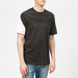 Helmut Lang Men's Square Short Sleeve T-Shirt - White/Black