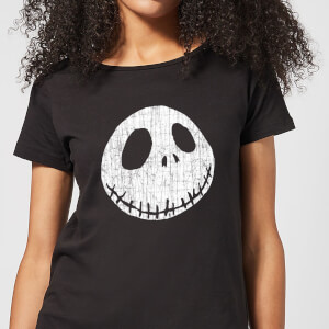 Nightmare Before Christmas Jack Skellington Crinkle Women's T-Shirt - Black