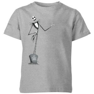 The Nightmare Before Christmas Jack Skellington Full Body Kids' T-Shirt - Grey