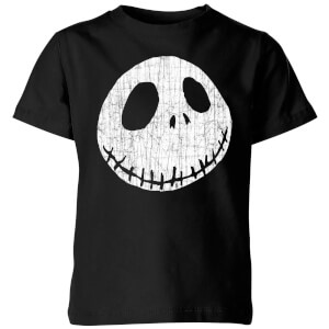 The Nightmare Before Christmas Jack Skellington Crinkle Kids' T-Shirt - Black