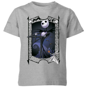 The Nightmare Before Christmas Jack Skellington Zero Pose Kids' T-Shirt - Grey