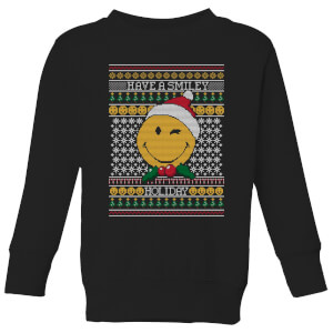Felpa Smiley World Have A Smiley Holiday Kids Christmas - Nero