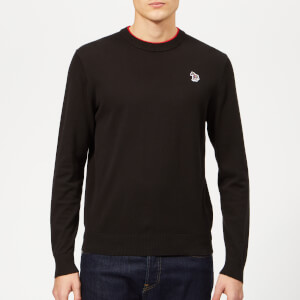PS Paul Smith Men's Crew Neck Zebra Sweatshirt - Black