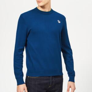 PS Paul Smith Men's Crew Neck Zebra Sweatshirt - Indigo