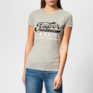 Superdry Women's Classic Sequin Entry T-Shirt - Grey Marl Heather