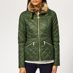 Barbour International Women's Corner Quilted Coat - Moss Green