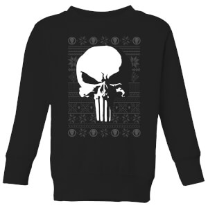 Marvel Punisher Kids Christmas Sweatshirt - Black