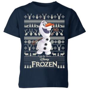 T-Shirt de Noël Homme Disney La Reine des Neiges Olaf - Bleu Marine