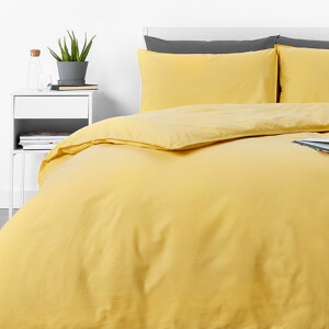 in homeware Washed Cotton Duvet Set - Yellow